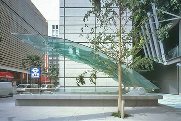 Cantilevered Glass Canopy Tokyo