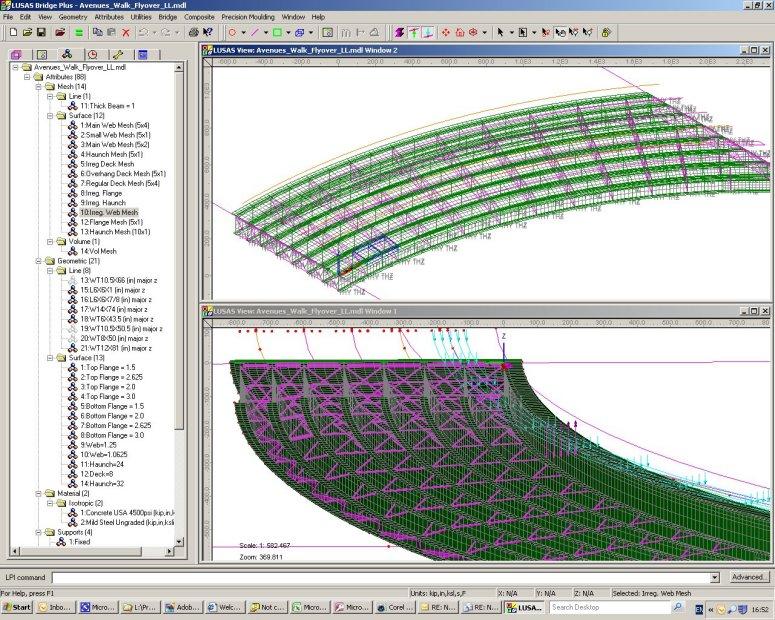 LUSAS Bridge Design Software Tour - Modelling with LUSAS