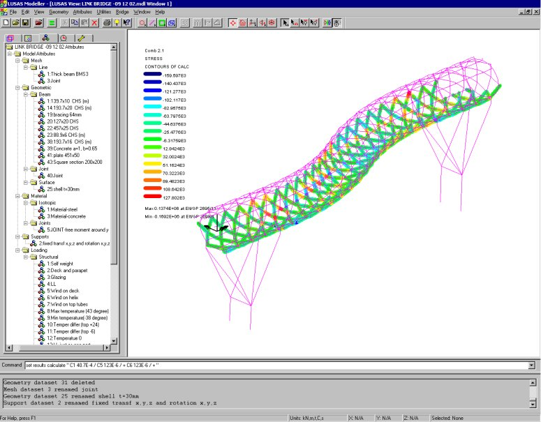 LUSAS Bridge Design Software Tour - Analysis and Design Capabilities