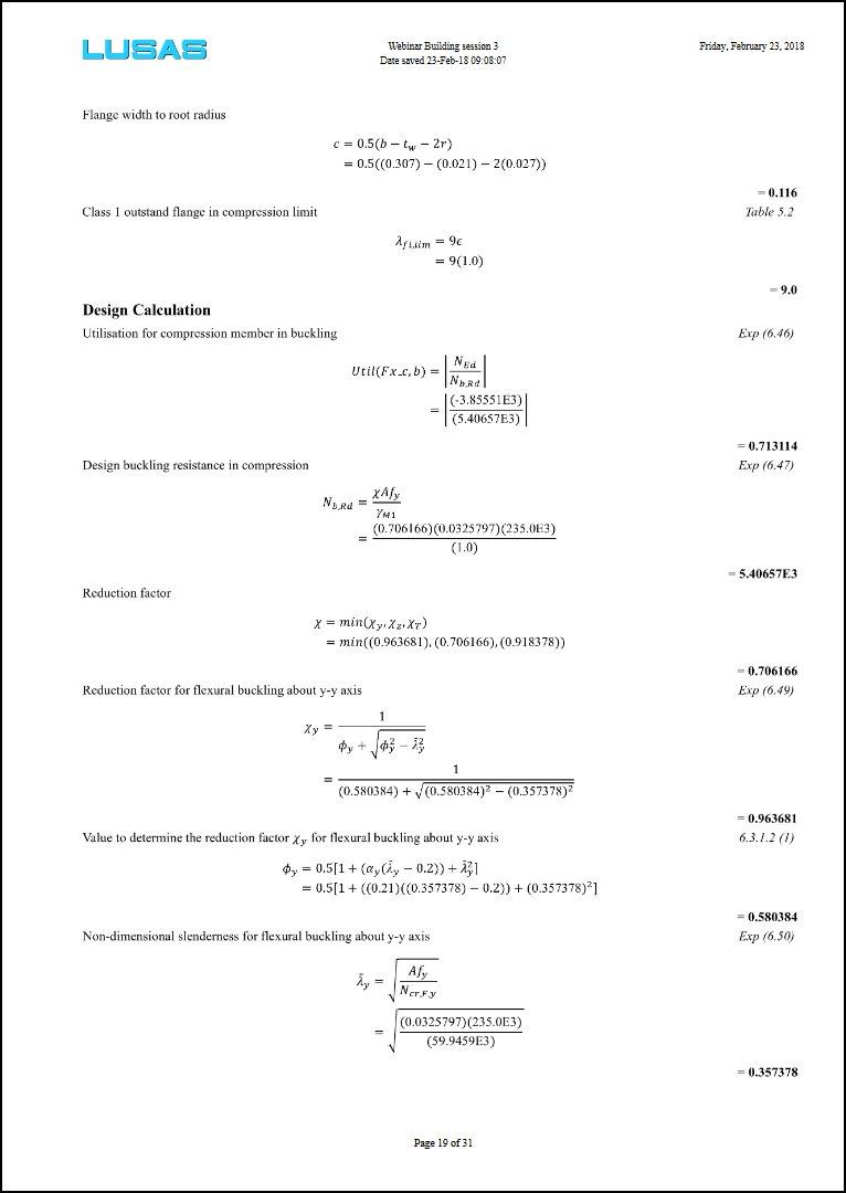 Software Option : Steel Frame Design
